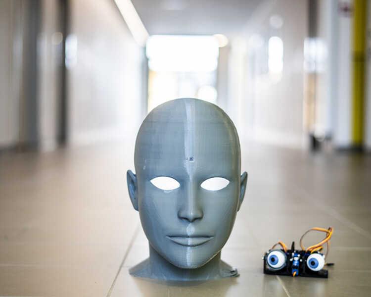 De levende robot: AI-head